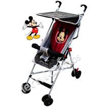 Coche Paragüitas Disney Liviano Mickey Mouse C/barral