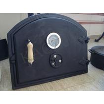 Puerta Para Horno De Barro En Fundición Con Reloj Y Venteo