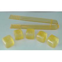 Hielo Reusable Cubito Plastico Con Pinza De Acrilico