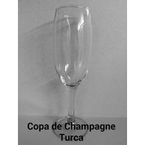Copa De Champagne De Vidrio