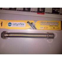Flexible Gas Acero Inox. Aprobado 3/4 20a42cm Extensible