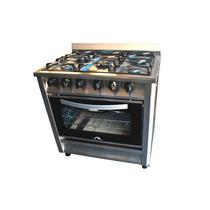 Cocina 5 Hornallas 80 Cms. Rejilla Fundicion Puerta Vidrio