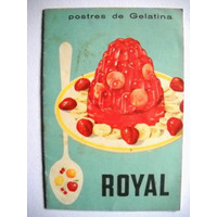 Antiguo Recetario Gelatina Royal 12 Paginas 17 Recetas