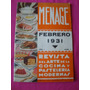 Revista Menage N° 1 Febrero 1931 Cocina Pasteleria Moderna