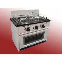 Mini Cocina 2 Hornallas Con Horno Frente Vidrio Para Gn O Ge