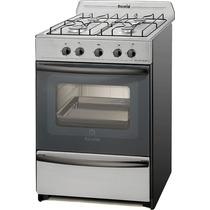 Cocina Escorial Master Full Acero 56 Cm Encendido Elec Y Luz