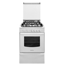 Cocina Gas Ariston 55cm Blanca Grill / Rej Fundición Gtia Of