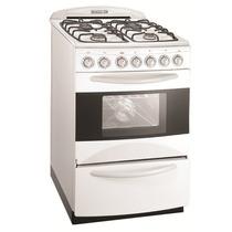 Cocina Domec 56 Cm Multigas Luz Encendido Timer Visor Blanca