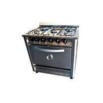 Cocina Industrial 5 Hornallas 80 Cms. Fornax