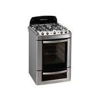 Cocina Spar Acero 56cm Multigas Visor Encendido Y Luz