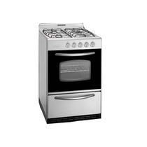 Cocina A Gas Domec Cxupav 56cm Acero Inox Autolimpiante