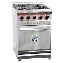 Cocina Industrial Morelli 550 Acero Inox Reja Fundicion 55cm