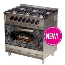 Cocina Mini 6 Hornallas - Rejas De Hierro - Sol Real