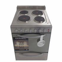 Cocina Eléctrica Domec 56cm 4 Horn C/ Luz Acero Beiro Hogar