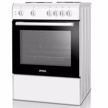 Cocina Electrica Atma 4 Anafes + Horno Luz Termostato