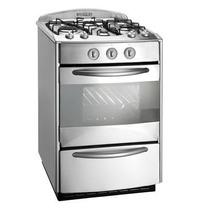 Cocina Acero Domec Gas 60cm 4 Hor Autolimpiante Cxnn60v