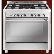 Cocina Glem Mqb 6129 I 5 Hornallas Gas + Horno Electrico 90