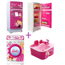 Combo Barbie Grande Heladera+ Lavarropas+lavavajilla 12 Cuot