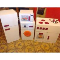 Fabuloso Conjunto De: 3 Muebles Y Te Regalo Un Microondas