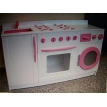 Cocinas Para Nenas, Artesanales, Hechas En Madera