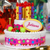 Torta De Cumpleaños Juliana Tamaño Chica Musical Tv
