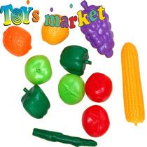 Set De Frutas Y Verduras Comiditas Carrito Supermercado