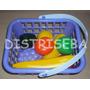 Canasto Frutas Y Verduras Plástico Material Didactico