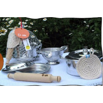 Set De Cocina Fideos De Aluminio Puro 4 Piezas
