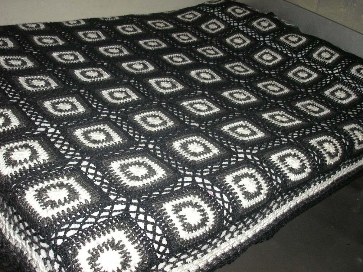 Colchas tejidas a crochet a mano imagui - Colchas de patchwork hechas a mano ...