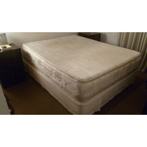 Colchon+sommier 150x190 Resortes, Doblepillow Muy Cuidado!!!