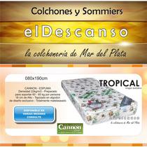 Colchon Cannon Tropical Espuma 080x190x018 En Mar Del Plata