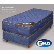 Colchon Y Box Camudi De Espuma Con Pillow 190 X 90