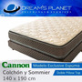 Colchon Sommier Cannon Exclusive Con Pillow 140x190