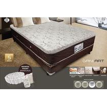 Colchon Y Sommier 160x200 Smart Resortes Enfundados Pocket