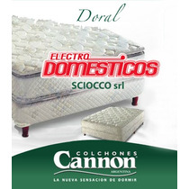 Colchón 2 Plazas Cannon Doral Con Pillow Top (resorte) Lanus