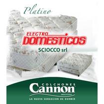 Colchón 2 Plazas Cannon Modelo Platino 1.40 X 1,90. Lanus