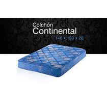 Colchon Piero Continental Con Pilow 140 X 190 Cm