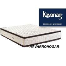 Colchon Kavanagh 150x190 Alta Densidad 35kg Doble Pilow 30cm