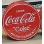 Lata Redonda Coca Cola Importada Original 17.5 Centimetros