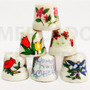Dedal De Porcelana Coleccionable 6 Modelos Hechas En Taiwan