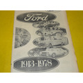 Diario Clarin Suplemento Especial Ford Motors En Argentina E