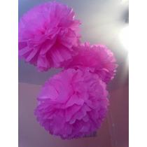 Pompones De Papel De Seda Flores Decoración