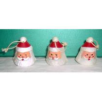 Navidad Lote 5 Papa Noel P/colgar + Muñeco Nieve Olivos Ex