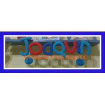 Cartel Con Nombres O Frases Tejidos Al Crochet