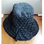 Antiguo Gorro Crochet Años 60 Negro De Nylon