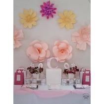 Flores De Papel Para Decorar Tu Casa O Eventos O Vidrieras