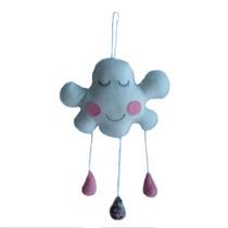 Movil Colgante De Tela Motivo Nube - Decoracion Infantil