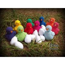 Pajarito Pollito Tejido En Crochet. Artesanal