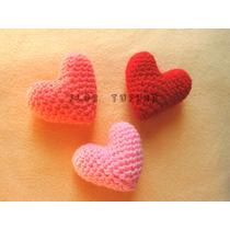 Corazones Amigurumi Tejidos A Crochet Ideal Souvenirs Y Deco