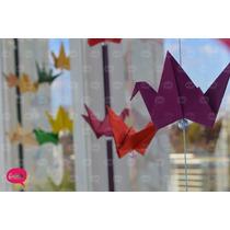 Souvenir Cumpleaños Colgante Guirnalda Movil Grullas Origami